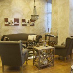 salon nowoczesne krzesła